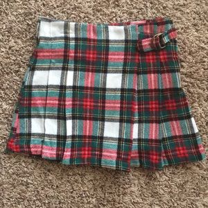 NWOT Carters holiday plaid pleated skirt